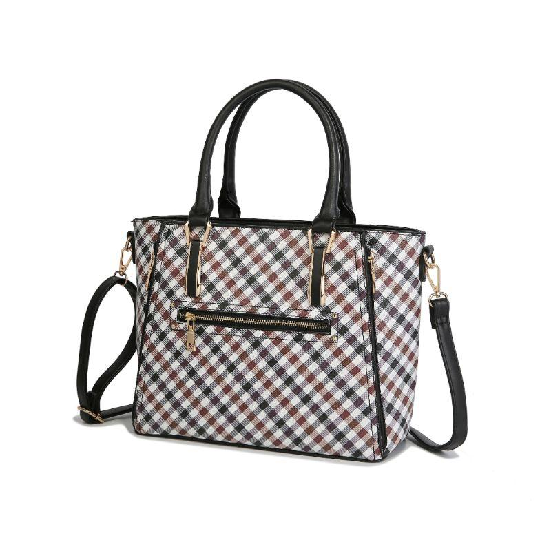 MKF Collection Paisa Satchel Handbag-Black-Daily Steals