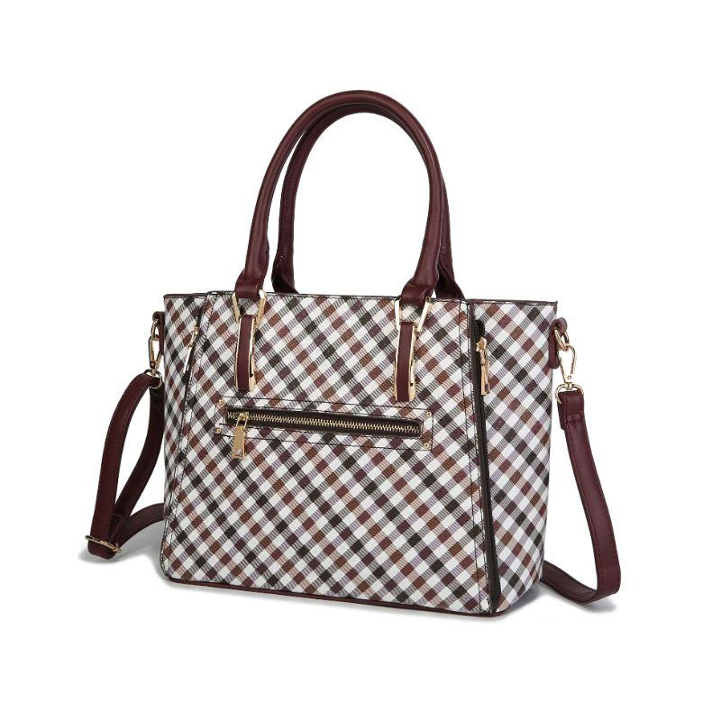 MKF Collection Paisa Satchel Handbag-Burgundy-Daily Steals