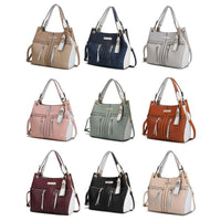 MKF Collection Sofia Tote Bag and Removable Keychain-Beige-