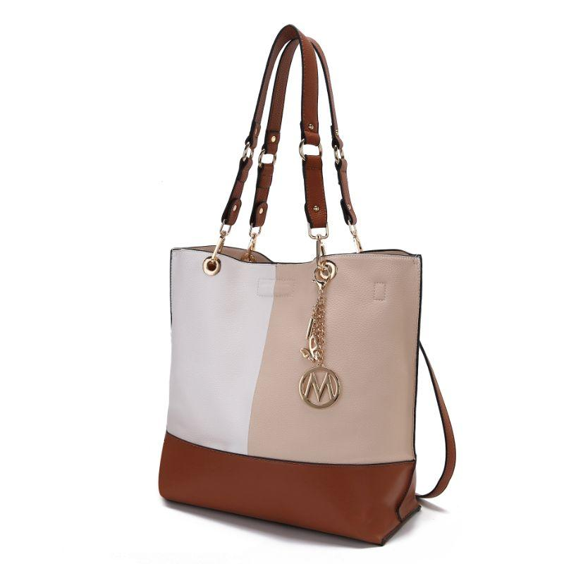 MKF Collection Women's Laya Reversible Tote-Cognac Brown-Daily Steals