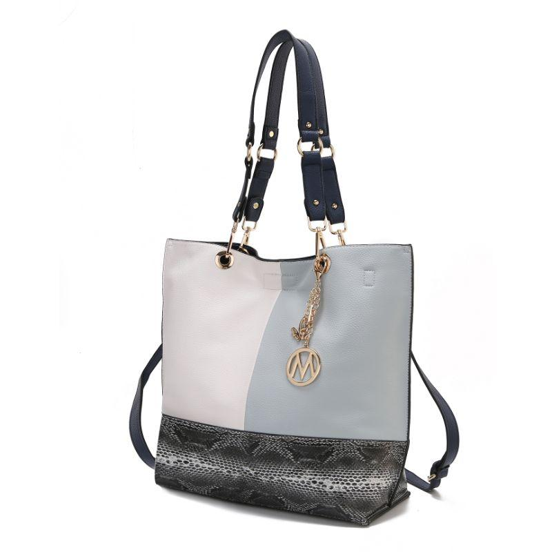 MKF Collection Women's Laya Reversible Tote-Light Blue-Black-Daily Steals