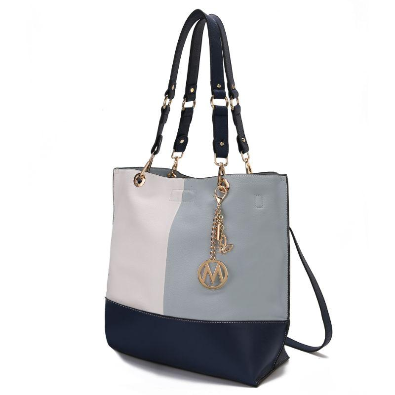 MKF Collection Women's Laya Reversible Tote-Light blue-Navy-Daily Steals