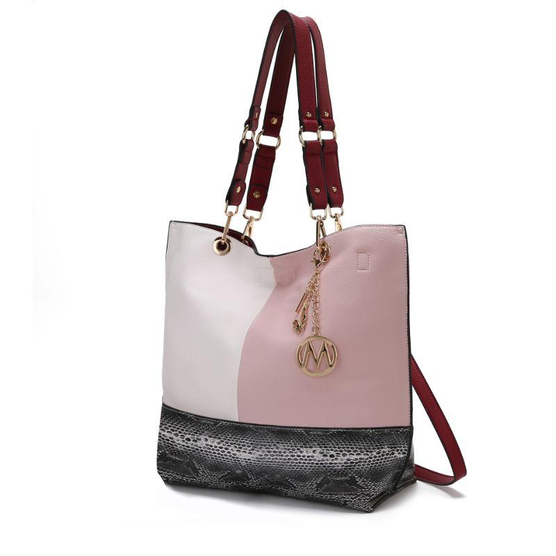 MKF Collection Women's Laya Reversible Tote-Pink- Black-Daily Steals