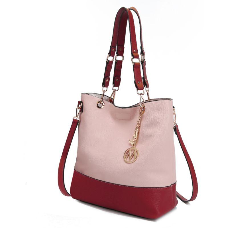MKF Collection Women's Laya Reversible Tote-Pink-Red-Daily Steals