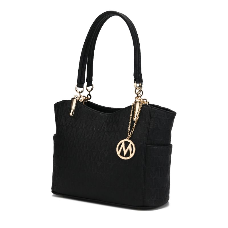 MKF Collection by Mia K - Malika Satchel Handbag-Black-Daily Steals