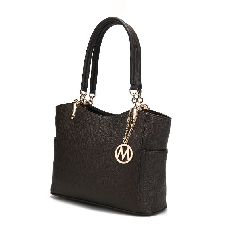 MKF Collection by Mia K - Malika Satchel Handbag-Chocolate-Daily Steals