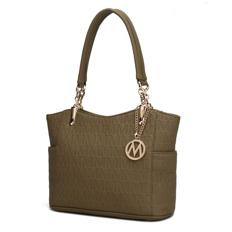 MKF Collection by Mia K - Malika Satchel Handbag-Khaki-Daily Steals