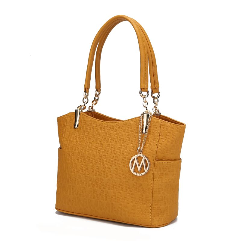 MKF Collection by Mia K - Malika Satchel Handbag-Mustard-Daily Steals