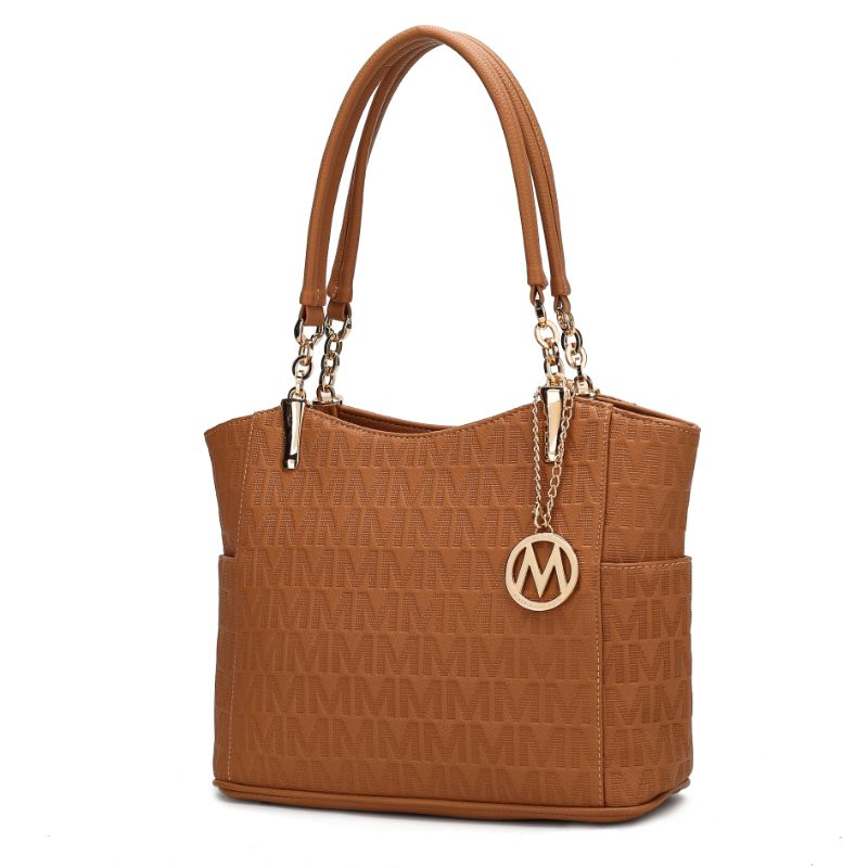 MKF Collection by Mia K - Malika Satchel Handbag-Tan-Daily Steals