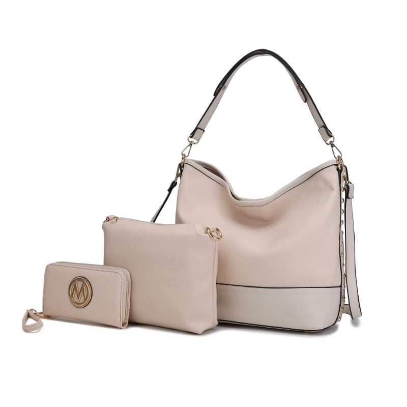 Ultimate Hobo Handbag, Crossbody Bag, and Wristlet by MKF-Beige-Daily Steals