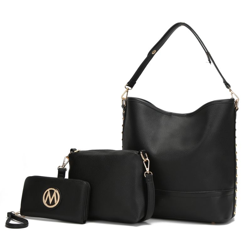 Ultimate Hobo Handbag, Crossbody Bag, and Wristlet by MKF-Black-Daily Steals