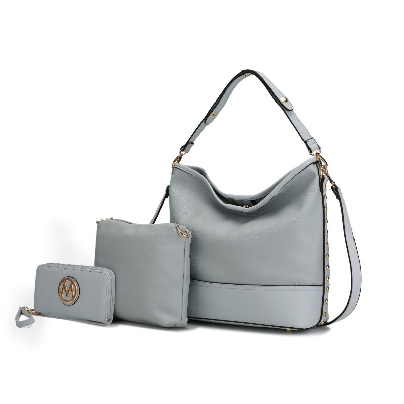 Ultimate Hobo Handbag, Crossbody Bag, and Wristlet by MKF-Blue-Daily Steals