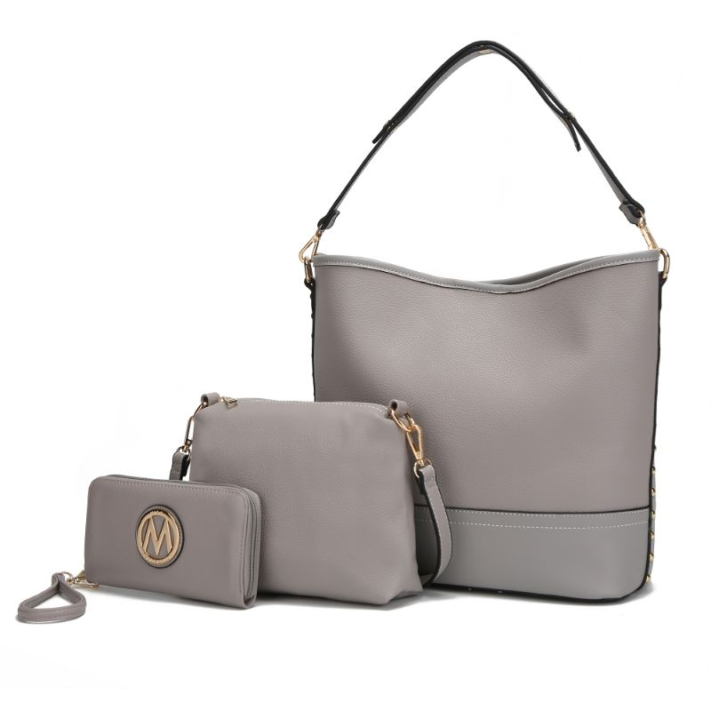 Ultimate Hobo Handbag, Crossbody Bag, and Wristlet by MKF-Grey-Daily Steals