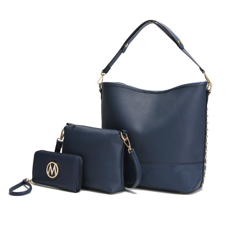 Ultimate Hobo Handbag, Crossbody Bag, and Wristlet by MKF-Navy-Daily Steals