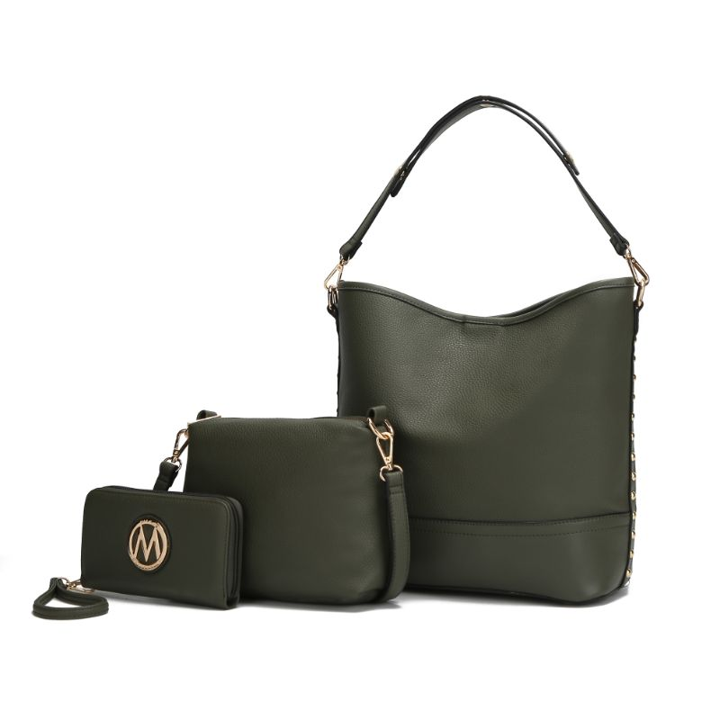 Ultimate Hobo Handbag, Crossbody Bag, and Wristlet by MKF-Olive-Daily Steals