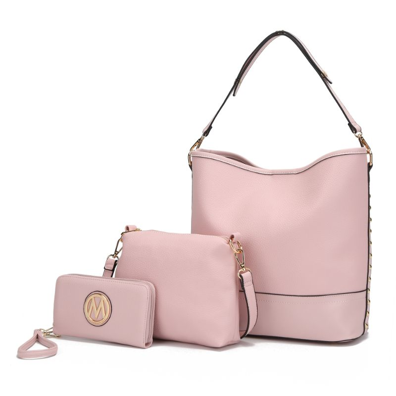 Ultimate Hobo Handbag, Crossbody Bag, and Wristlet by MKF-Pink-Daily Steals