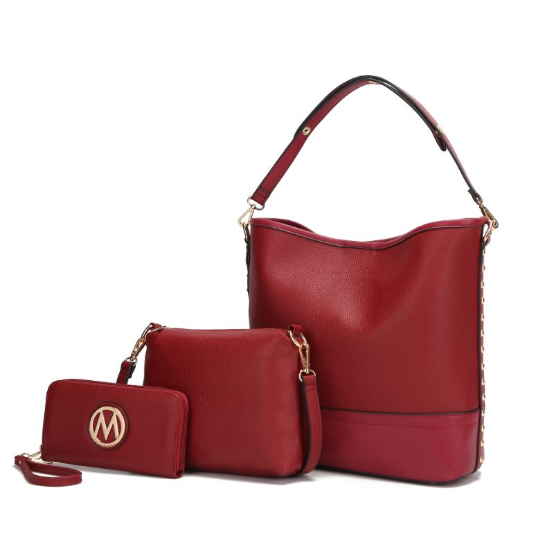 Ultimate Hobo Handbag, Crossbody Bag, and Wristlet by MKF-Red-Daily Steals