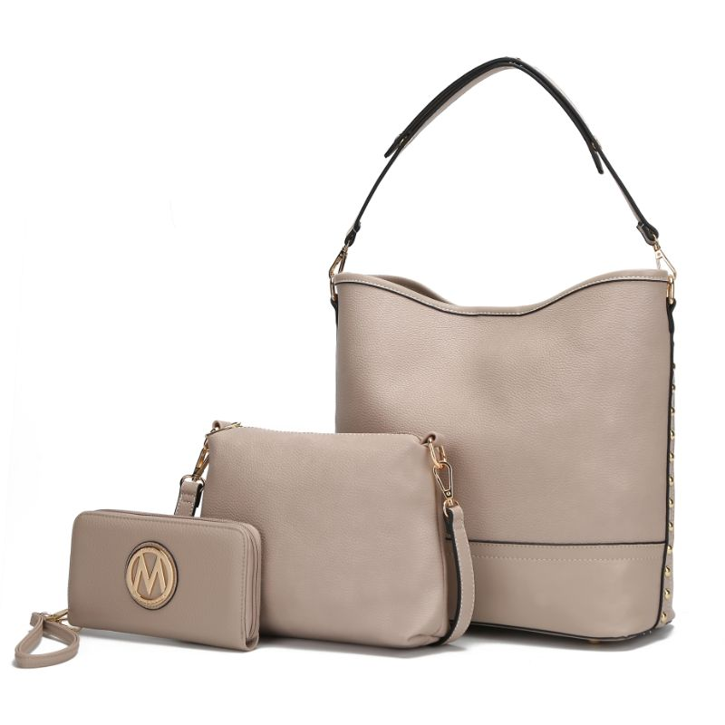 Ultimate Hobo Handbag, Crossbody Bag, and Wristlet by MKF-Taupe-Daily Steals