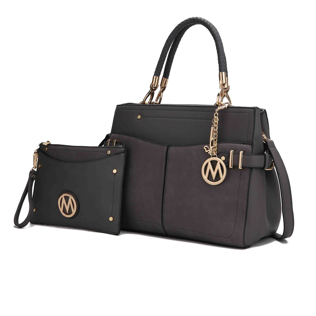 MKF Collection Tenna Satchel Bag and Matching Wristlet