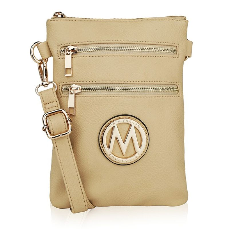 MKF Collection Medina Cross Body by Mia K. Farrow-Beige-Daily Steals