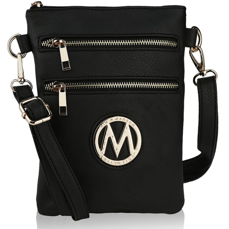 MKF Collection Medina Cross Body by Mia K. Farrow-Black-Daily Steals