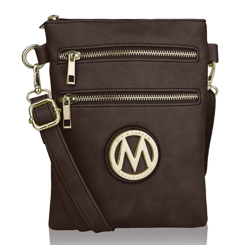MKF Collection Medina Cross Body by Mia K. Farrow-Coffee-Daily Steals