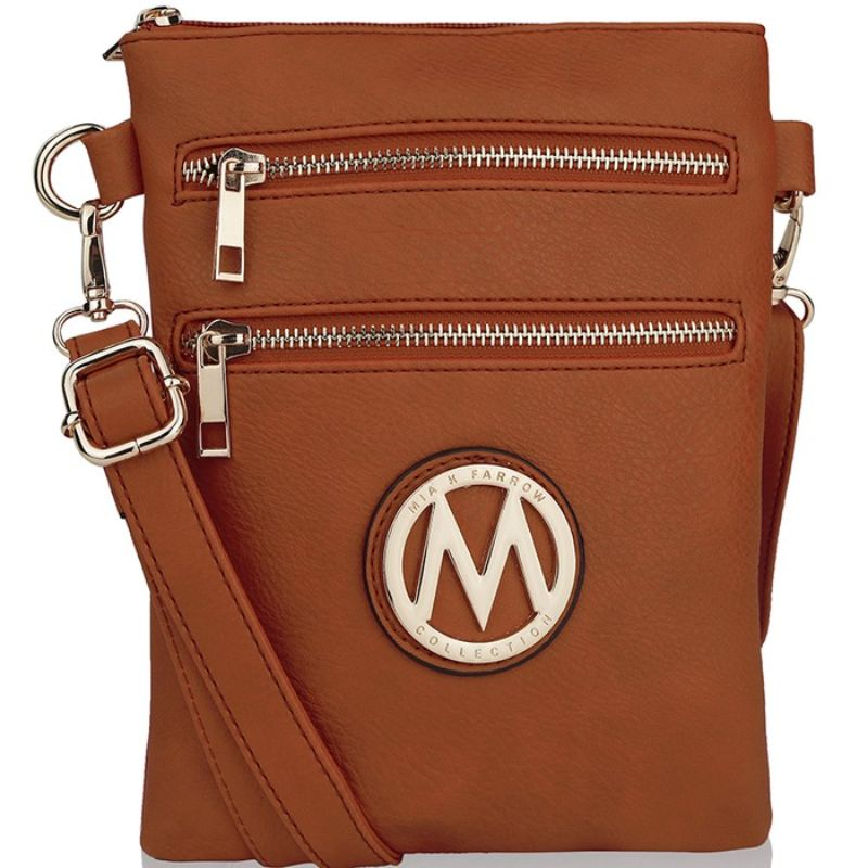 MKF Collection Medina Cross Body by Mia K. Farrow-Cognac Brown-Daily Steals