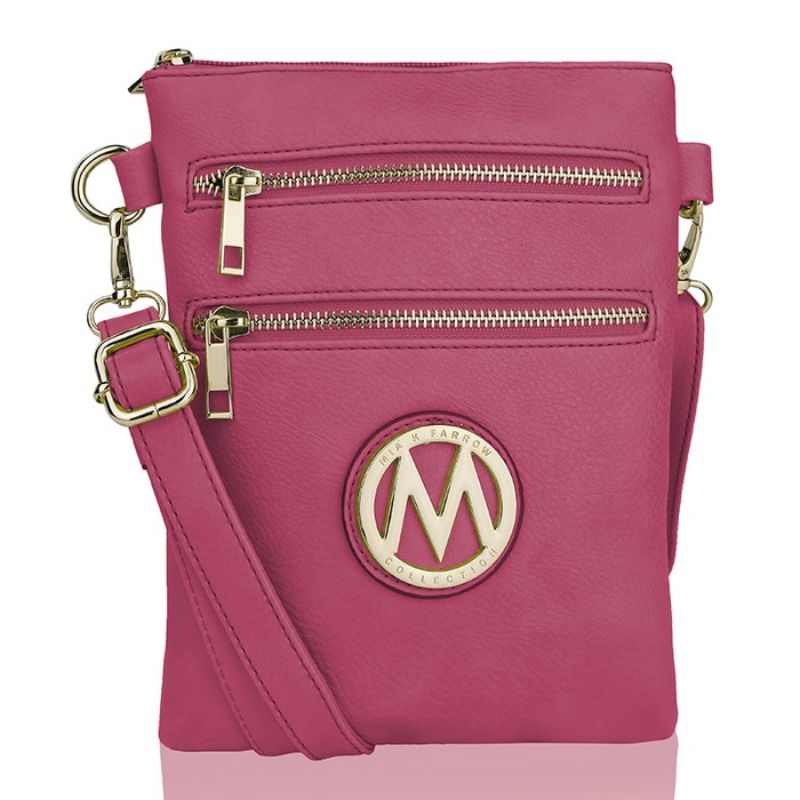 MKF Collection Medina Cross Body by Mia K. Farrow-Fuchsia-Daily Steals