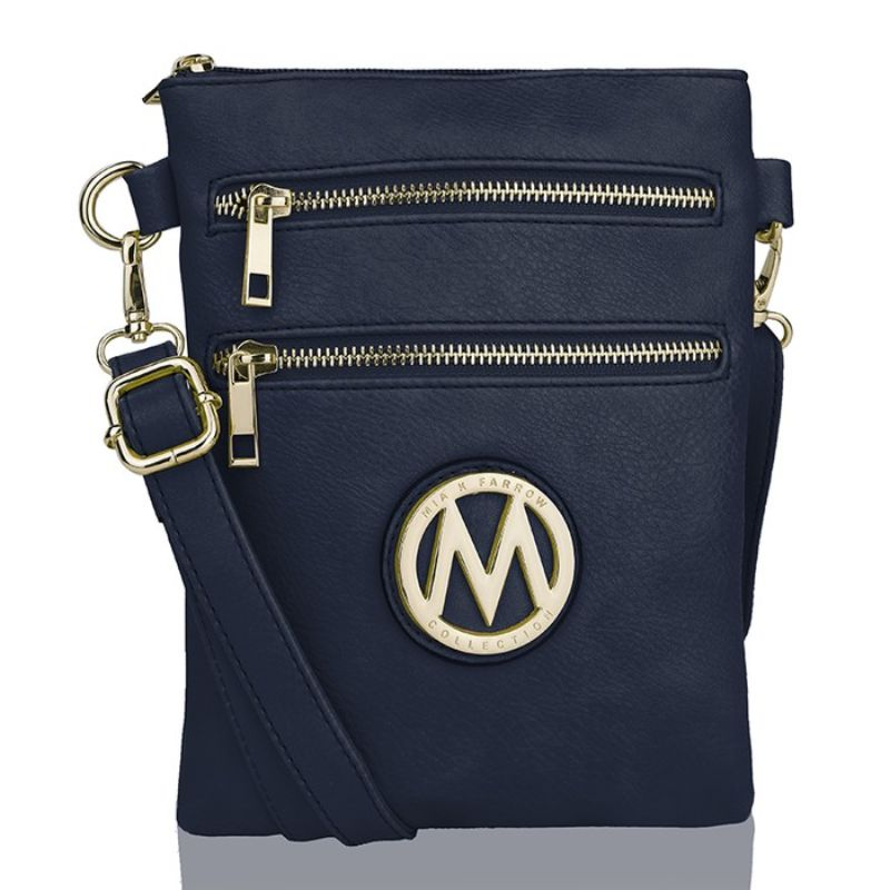 MKF Collection Medina Cross Body by Mia K. Farrow-Navy-Daily Steals