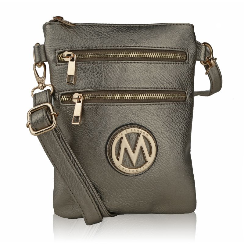MKF Collection Medina Cross Body by Mia K. Farrow-Pewter-Daily Steals