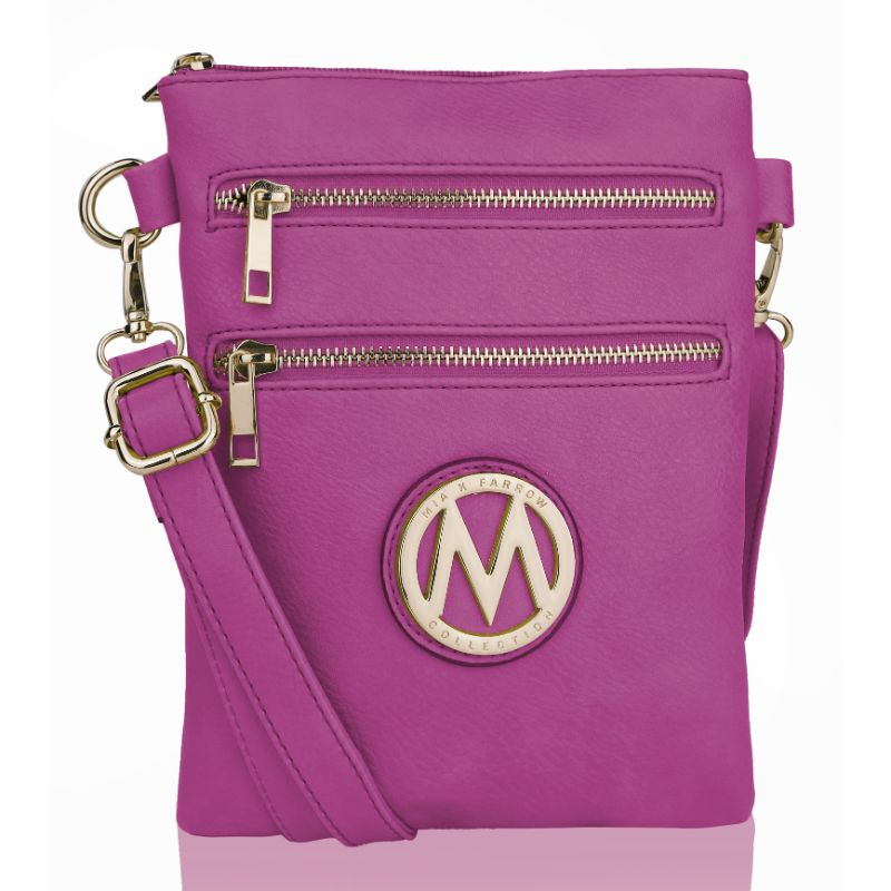 MKF Collection Medina Cross Body by Mia K. Farrow-Purple-Daily Steals