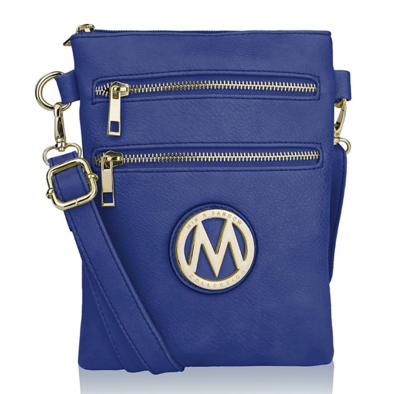 MKF Collection Medina Cross Body by Mia K. Farrow-Royal Blue-Daily Steals