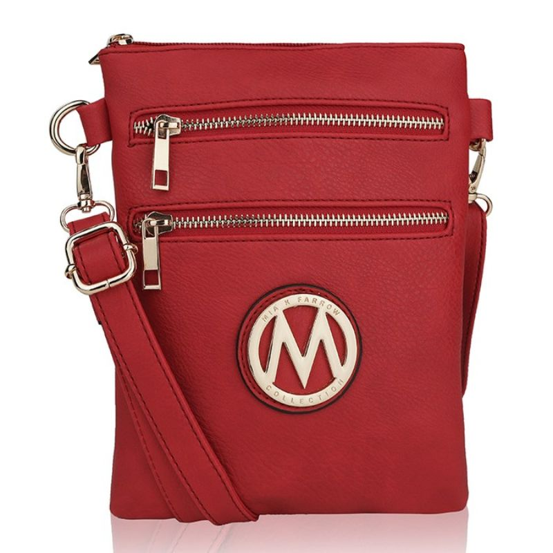 MKF Collection Medina Cross Body by Mia K. Farrow-Red-Daily Steals