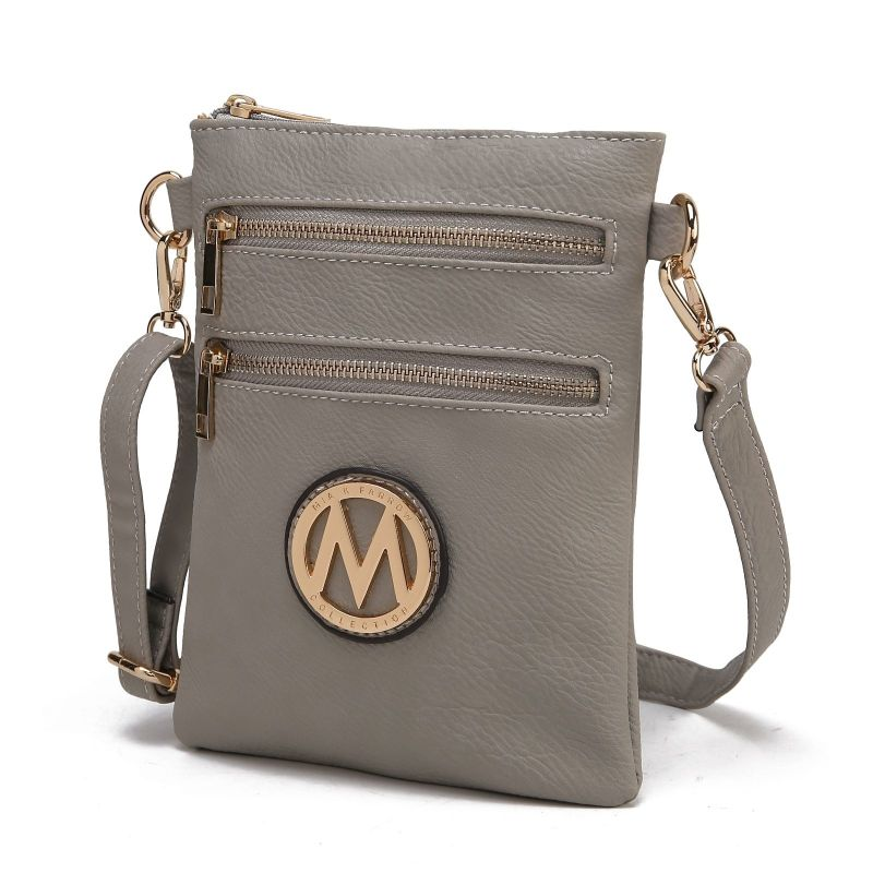 MKF Collection Medina Cross Body by Mia K. Farrow-Stone Grey-Daily Steals