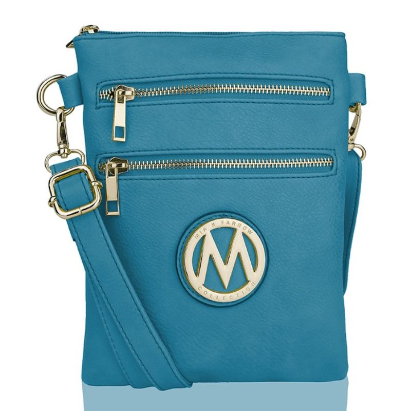 MKF Collection Medina Cross Body by Mia K. Farrow-Turquoise-Daily Steals