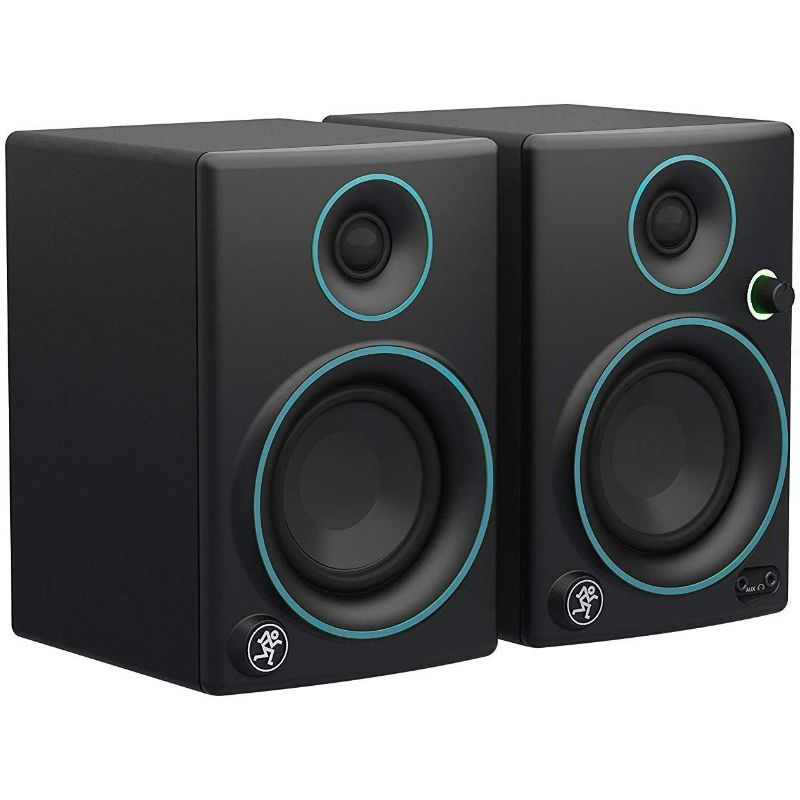 "Mackie CR3 3"" Woofer Creative Reference Multimedia Monitor Speakers (Pair)-Black with Blue Trim-Daily Steals"