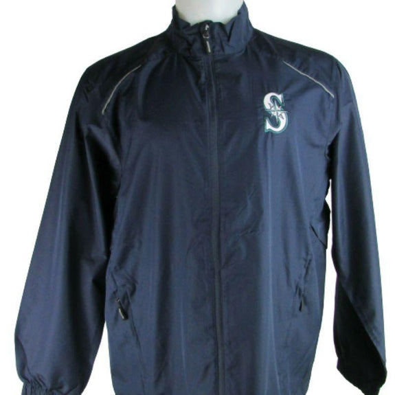MLB Lightweight Windbreakers-Navy-Seattle Mariners-L