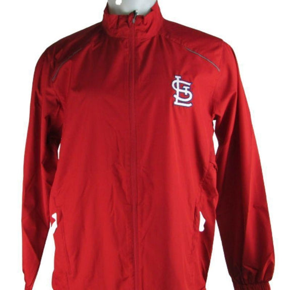 MLB Lightweight Windbreakers-Red-St. Louis Cardinals-M
