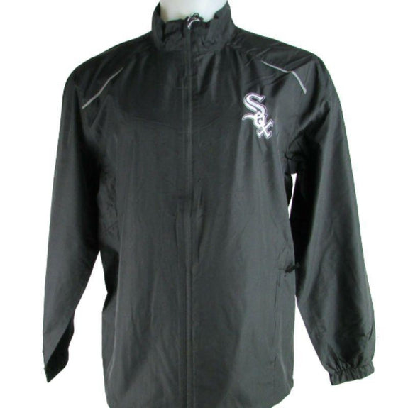 MLB Lightweight Windbreakers-Black-Chicago White Sox-M