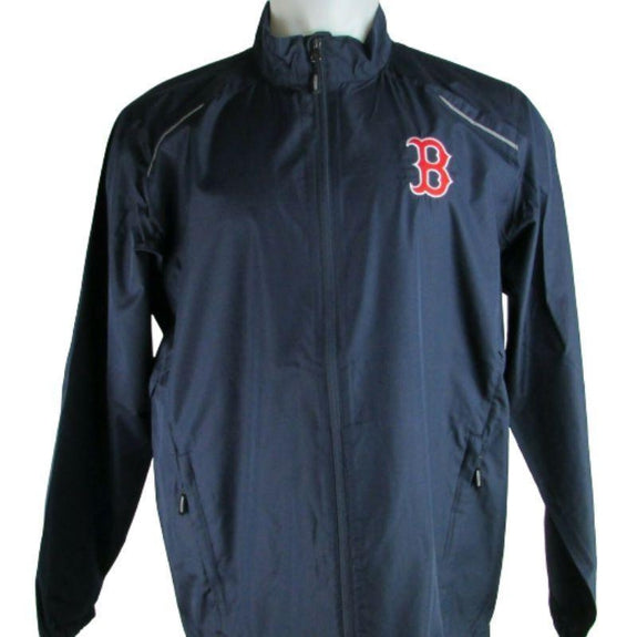MLB Lightweight Windbreakers-Navy-Boston Red Sox-2XL