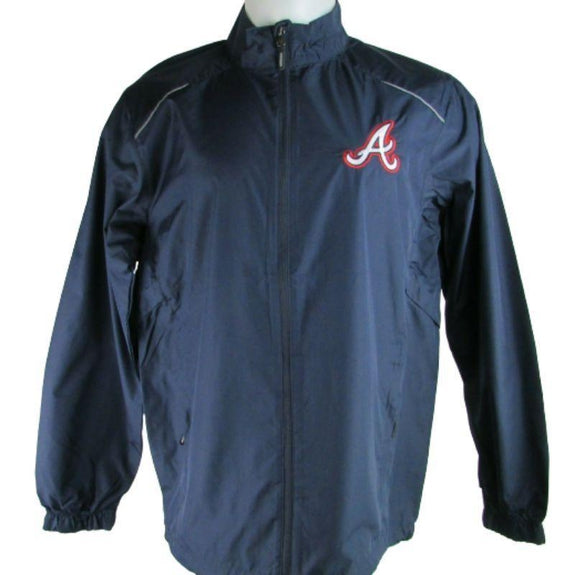 MLB Lightweight Windbreakers-Navy-Atlanta Braves-M