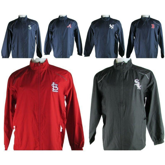 MLB Lightweight Windbreakers-Navy-Atlanta Braves-XL