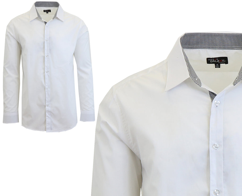 Daily Steals-Long Sleeve Dress Shirt For Men-Men's Apparel-White-Small-