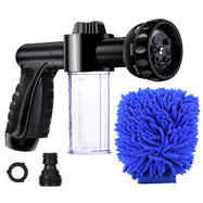Garden Hose High Pressure Spray Nozzle with 3.5oz Soap Dispenser-Daily Steals
