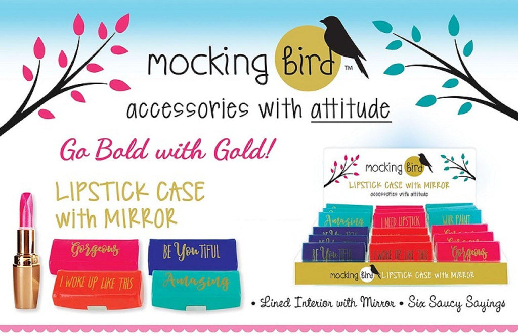 MockingBird Bold and Sassy Lipstick Case with Mirror - Buy One Get One Free!-Daily Steals