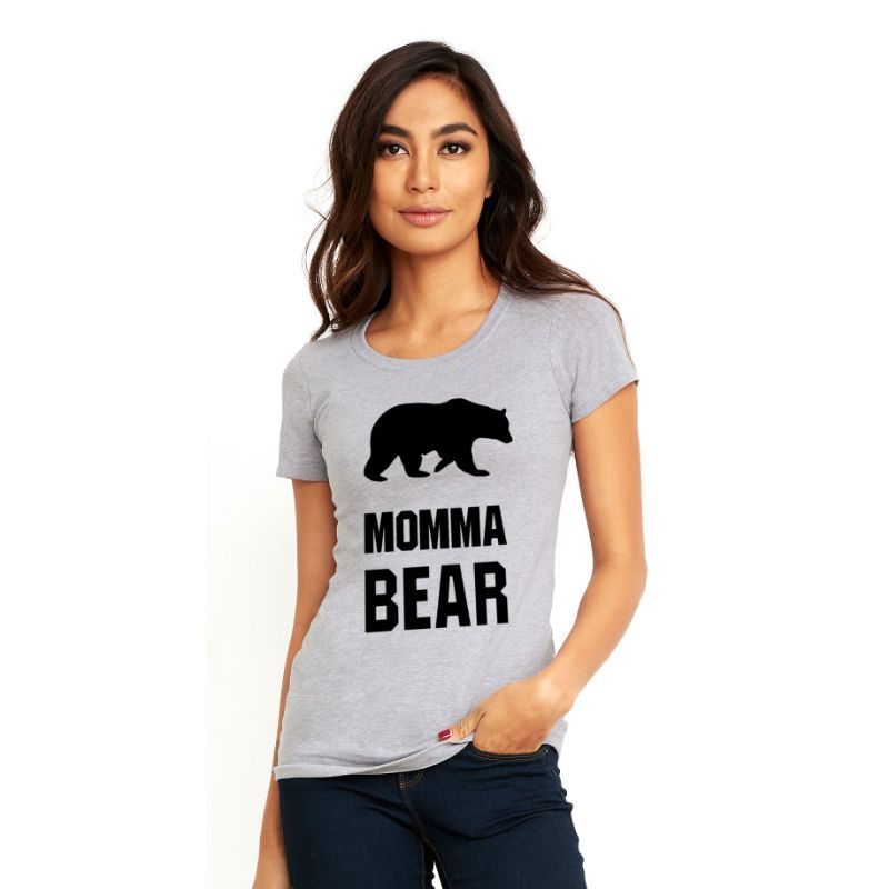 Women's Momma Bear Supersoft Shortsleeve T-Shirt-S-Daily Steals