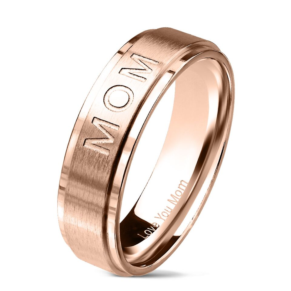 Mirrored Stainless Steel Mom Ring