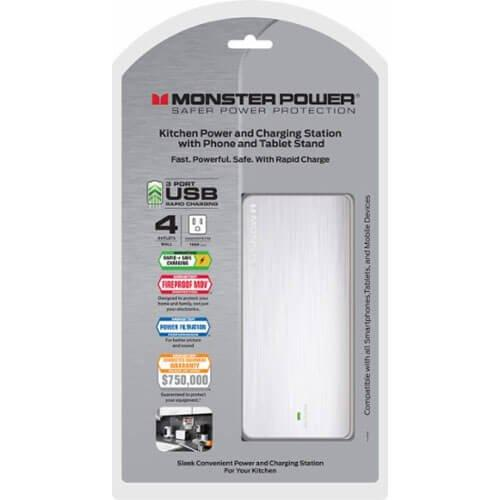 Daily Steals-Monster Home Collection Surge Protector with 4-Power and 3-USB Outlets-Home and Office Essentials-