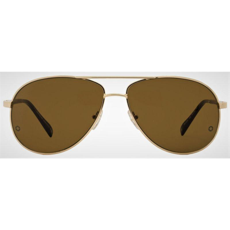Montblanc Unisex Aviator Sunglasses MB325S 32E Rose Gold/Rosewood 325-Daily Steals