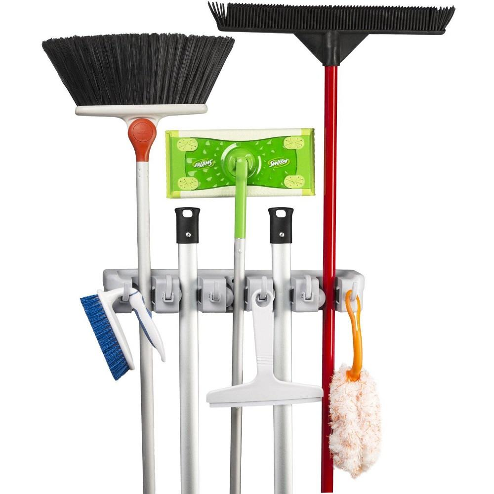 Daily Steals-Mop & Broom Wall Mount Organizer-Home and Office Essentials-